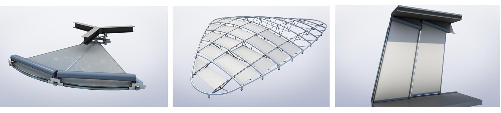 3D renders of bespoke blinds