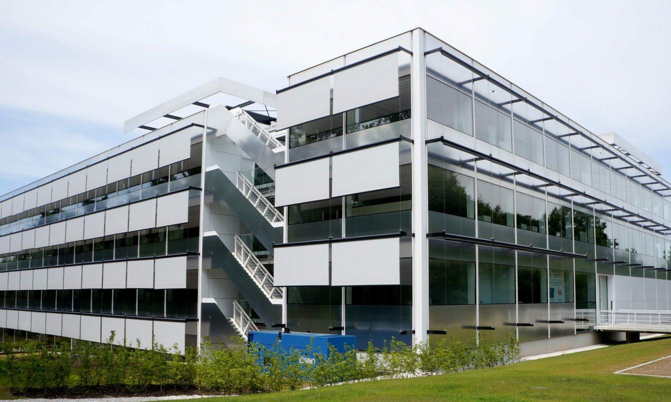 External facades on office building