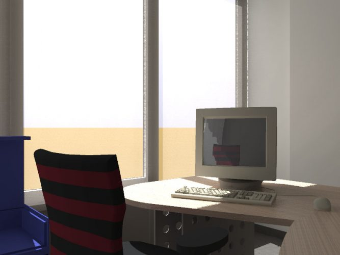 Blinds in office space