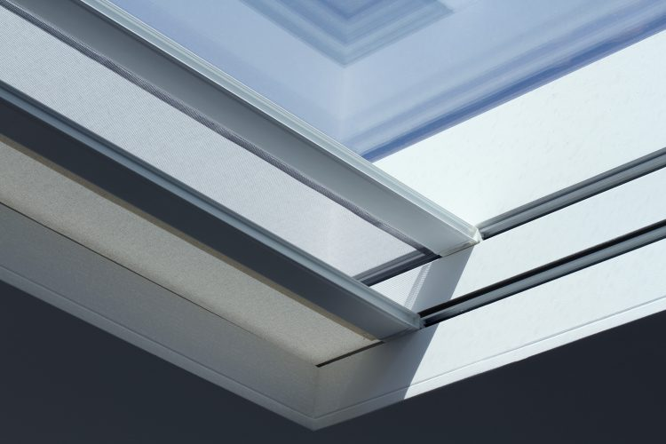 Close up of blinds system
