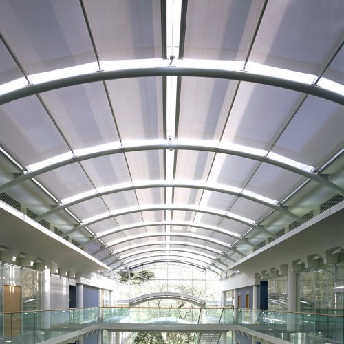 Curved roof blinds