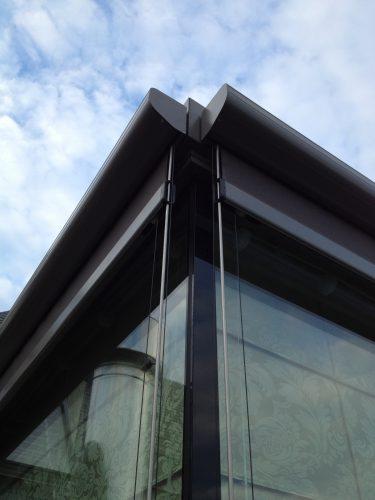 Close up of corner of blinds
