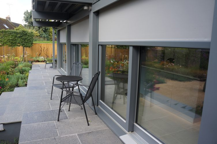 T660 external blinds system on house