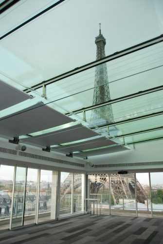 Tension blinds on roof