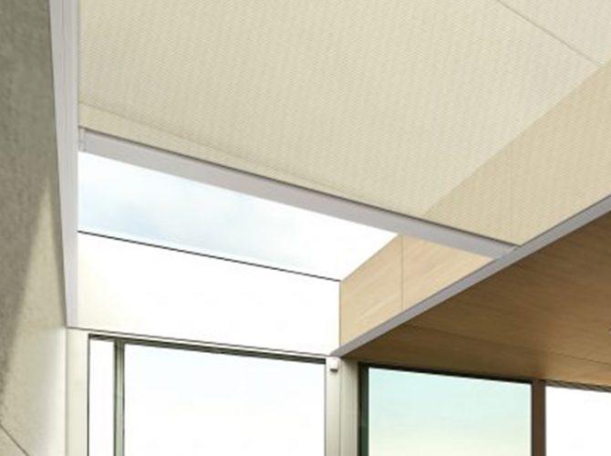 Blind on rooflight cavity
