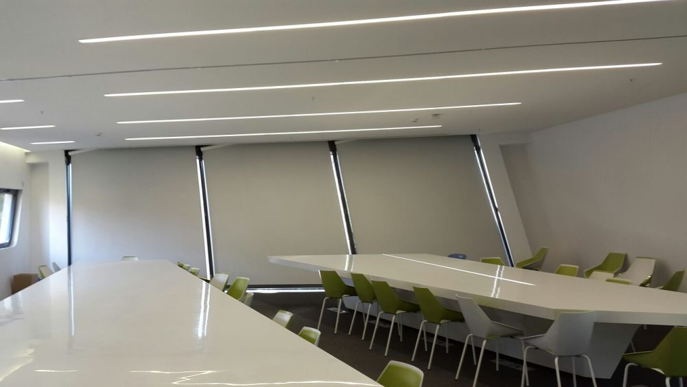 Angled parallelogram blind American University, Beirut